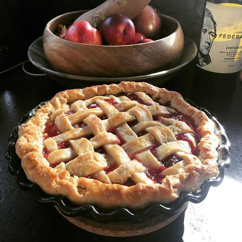 Homemade Berry pie with a lattice top