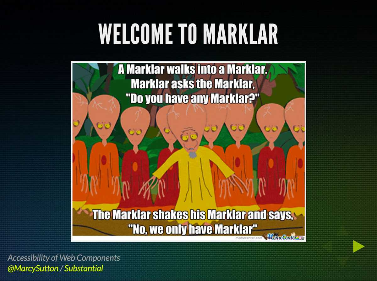 Welcome to Marklar